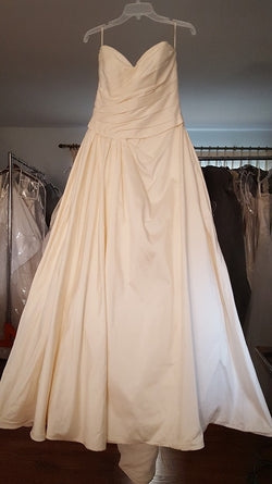 Paloma Blanca Satin Ball Gown