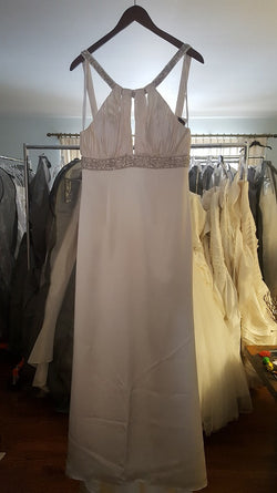 Winnie Couture Sheath Silk Wedding Dress