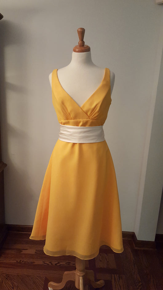 DaVinci Bridesmaid Dress 9203 A-Line Sunrise Yellow