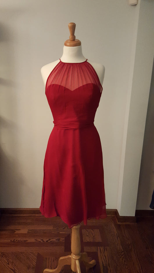 Amsale Crimson Cocktail Dress