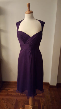 Amsale Amethyst Cocktail Dress