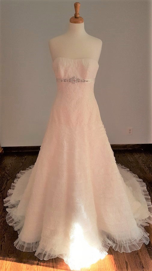 La Sposa A-Line Lace Ruffle Wedding Dress