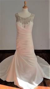 DaVinci Illusion Back Trumpet Wedding Dress