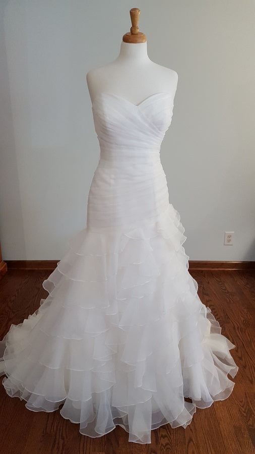 DaVinci 50082 Ruffled Trumpet Wedding Dress