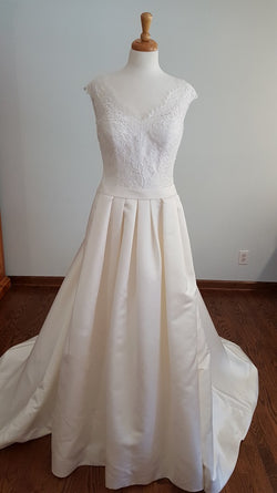 White One Jenny A-Line Wedding Dress