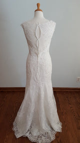 DaVinci Sheath 50406 Wedding Dress