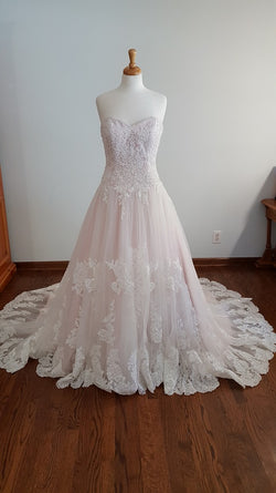 DaVinci Blush Ball Gown 50331 Wedding Dress