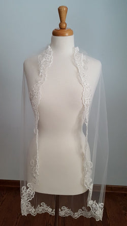 Giselle Bridals SP232 Fingertip Veil