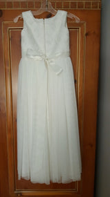 Amalee Ivory Flower Girl Dress
