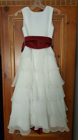 US Angels White Flower Girls Dress