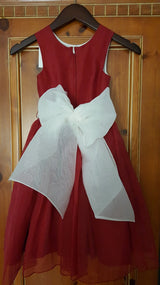 Jessica Lynn Red Flower Girl Dress