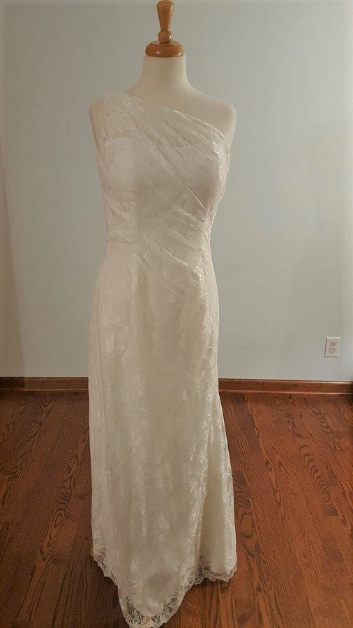 DaVinci Sheath F7002 Wedding Dress