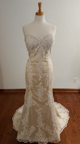 DaVinci Sheath 50427 Wedding Dress