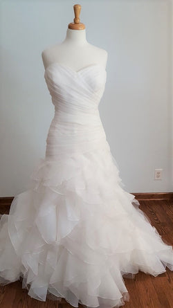 DaVinci Ivory Trumpet 50178 Wedding Dress