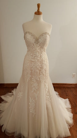 Kenneth Winston A-Line 1638 Wedding Dress