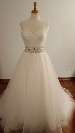 DaVinci Ball Gown 50173 Wedding Dress