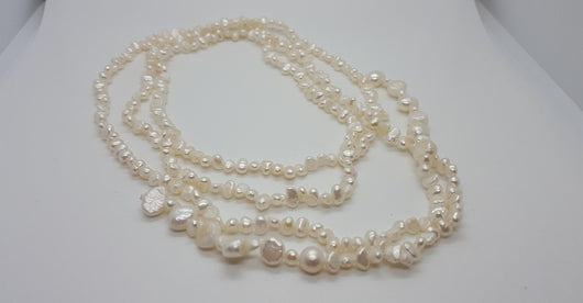 Christina Collette Pearl Lariat Necklace