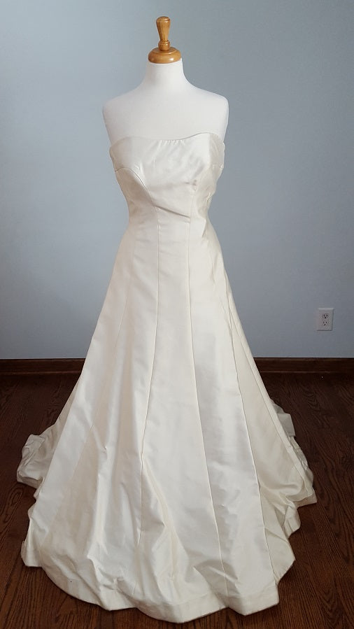 A-Line Satin Adele Wechsler Wedding Gown
