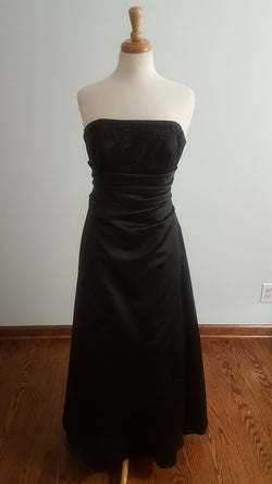Davids Bridal Black Bridemaid Dress