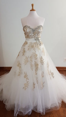 DaVinci 50282 Gold Flower Ball Gown