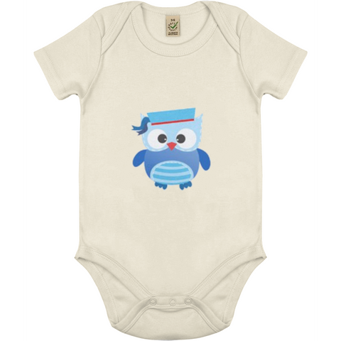 Blu Uggla babybody ekologisk bomull:Babydeals.se:Suggested Products:[availability]