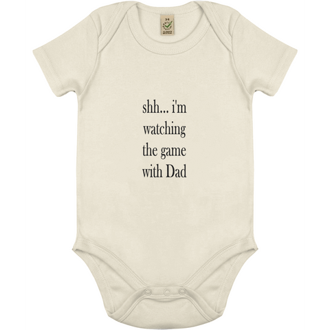 "Babybody ""Watching Game"" ekologisk bomull:Babydeals.se:Suggested Products:[availability]"
