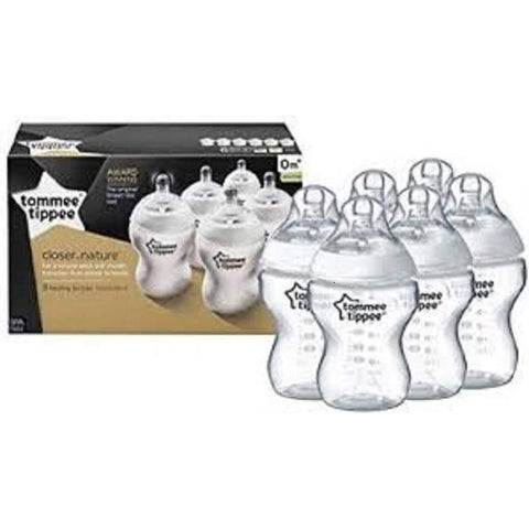 Tommee Tippee Closer to Nature Nappflaskor - Pack of 6 x 260ml:Babydeals.se:Flaskor:[availability]
