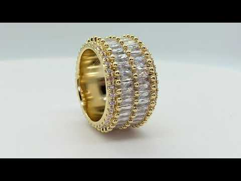 2 Row Baguette Ring