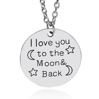 I Love You To The Moon And Back Necklace - Cloud Inc Store
