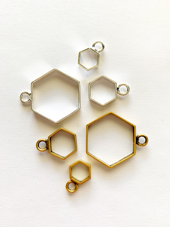 Hexagon Pendant Necklace: Made to Order