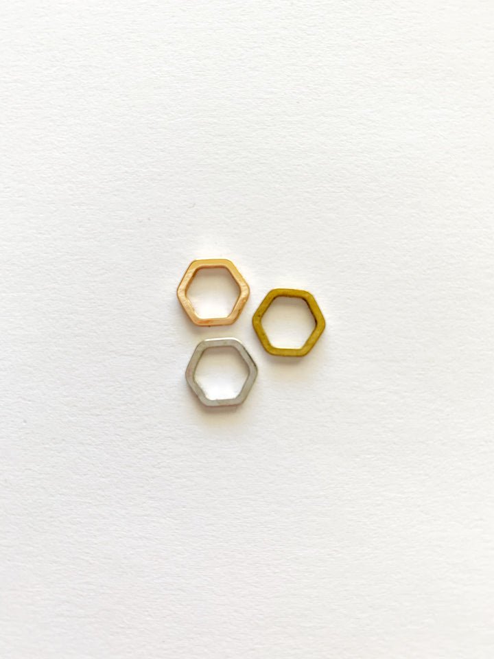 Hexagon Studs: Made to Order