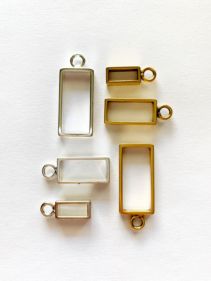 Rectangle Pendant Necklace: Made to Order
