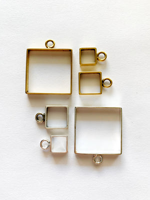 Square Pendant Necklace: Made to Order