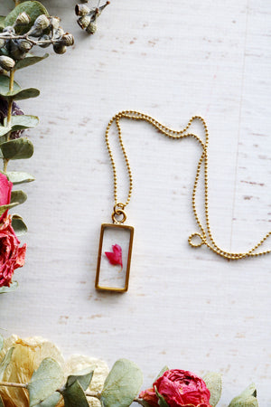 Nea Gold Rectangle Necklace
