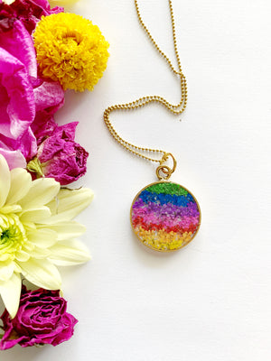 Satu Circle Rainbow Necklace