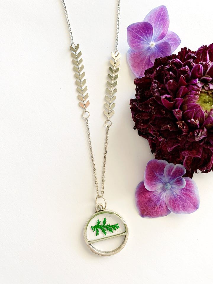 Satu Silver Lace Fern Necklace