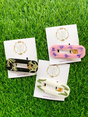 Rectangular Alligator Hair Clips