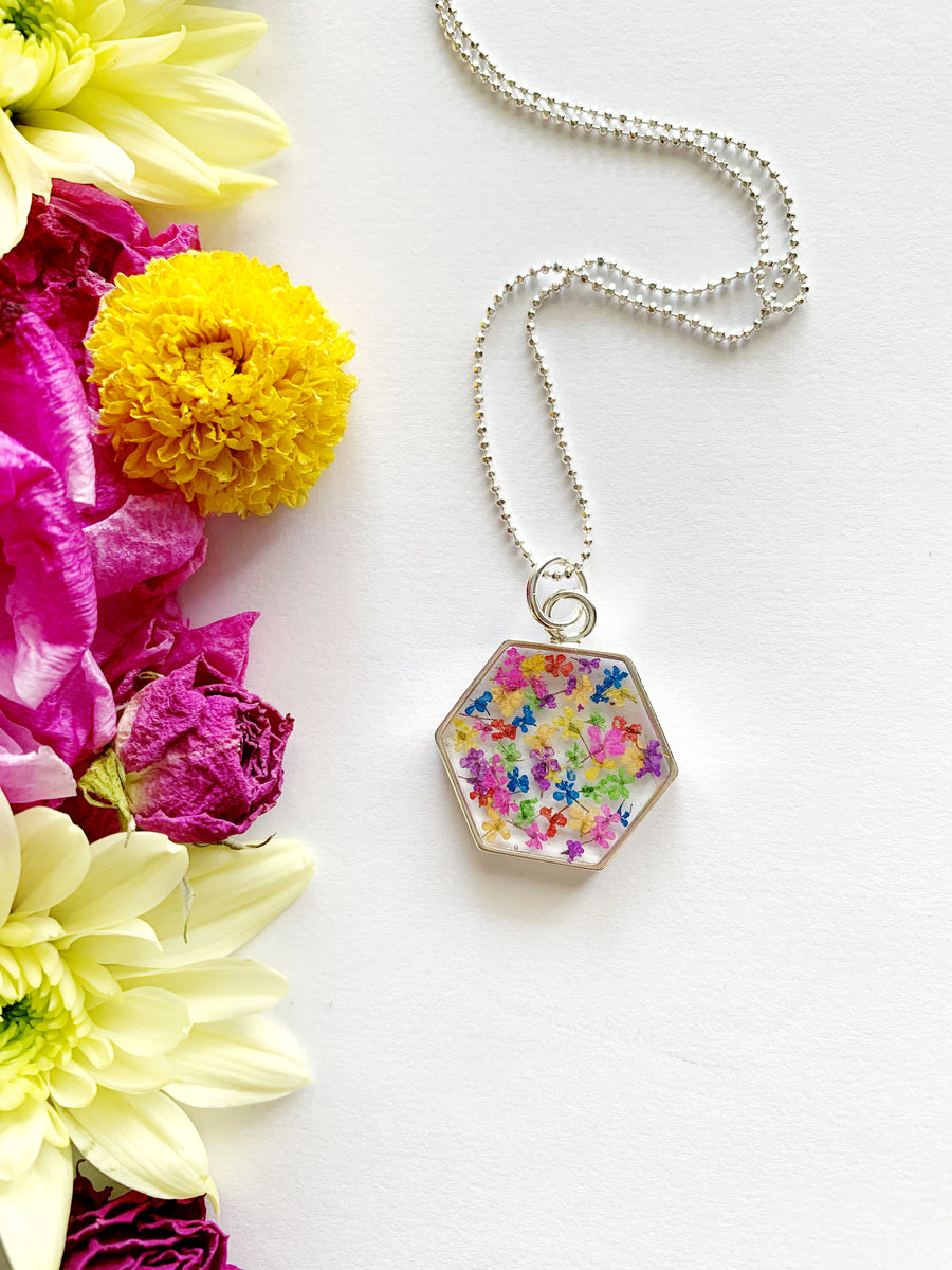 Tille Hexagon Rainbow Necklace