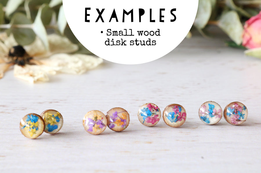 Wood Disk Studs: Made to Order