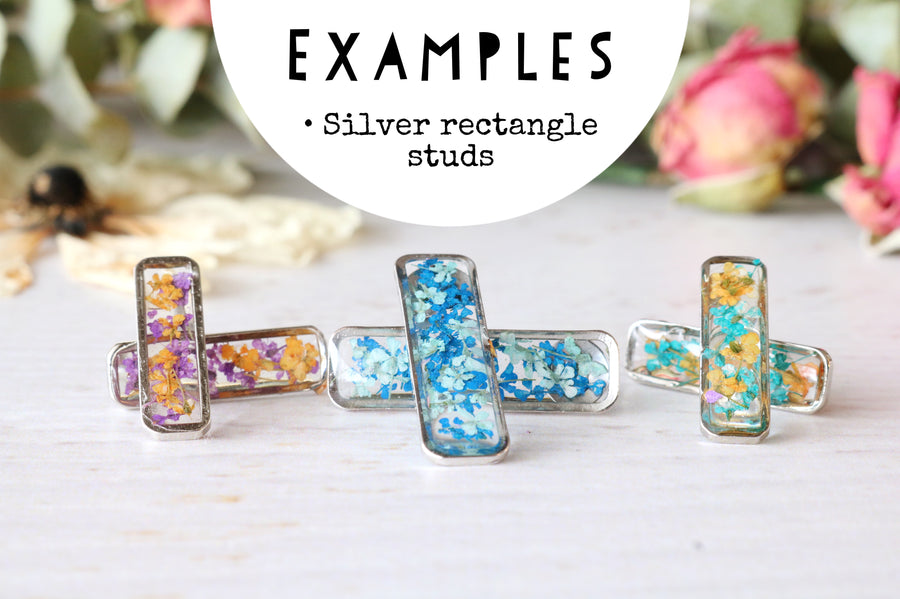 Rectangle Studs: Made to Order