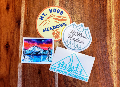 The Mountain and Trees Sticker Set