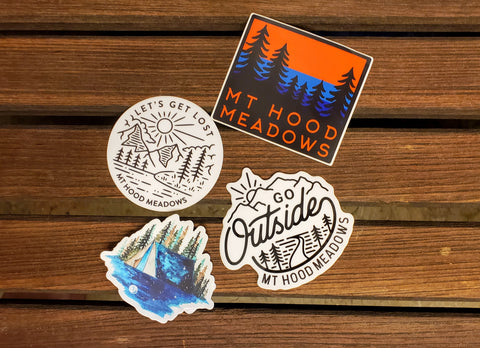 The Go Outside Sticker Set