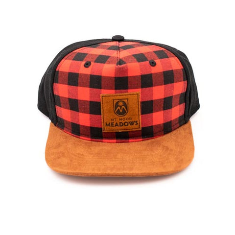 Flannel Flatbrim Hat with Suede Patch