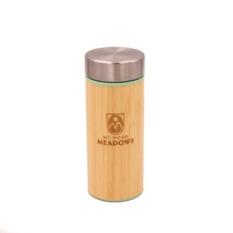 Bamboo Insulated 12 oz Water Bottle