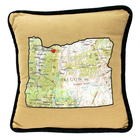 Heart Mt. Hood Pillow