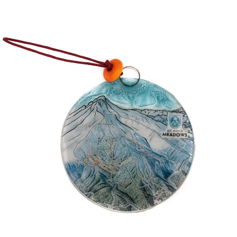 Meadows Map Glass Ornament