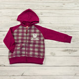 Kid's Pink MHM Two Tone Kangaroo Jacket