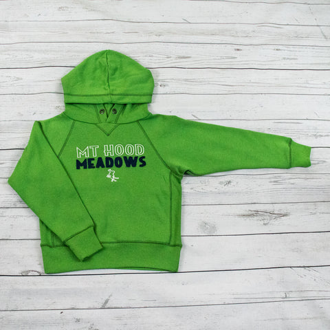 Green Youth Sanded Fleece Pull Over