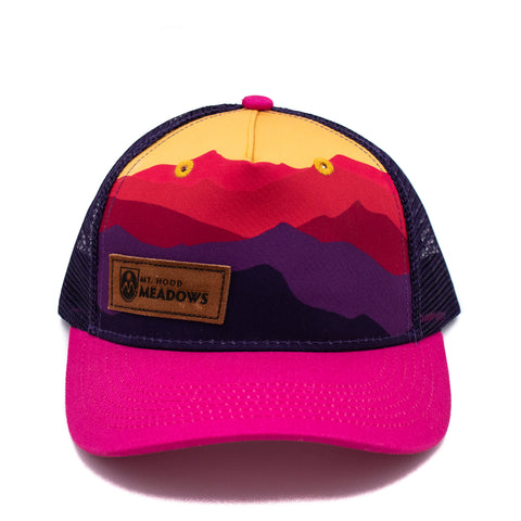 Kid's Mountain Sunset Cap