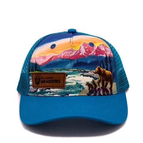 Kid's Painted Bear River Cap